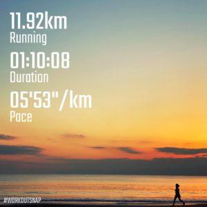 """【5'38""""/kmで3.2km+5'18""""/kmで3.2km+4'54""""/kmで4x400m】材木座海岸"""
