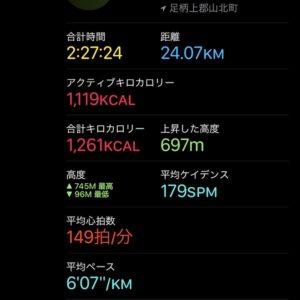 24kmを2時間27分