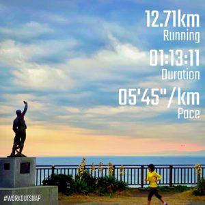 "【5'30""/kmで9.6km+5'07""/kmで8x30秒】稲村ヶ崎"