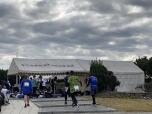 月例湘南マラソンのテント