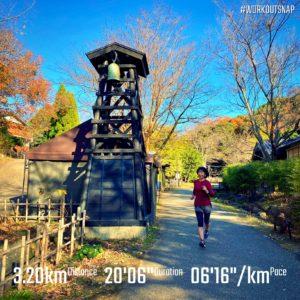 """【6'17""""/kmで3.2km】伊豆高原の八幡野温泉郷"""