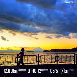"""【5'47""""/kmで9.6km+4'30""""/kmで5x30秒】逗子マリーナ"""