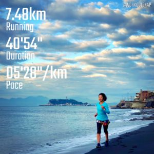 "【5'23""/kmで6.4km】稲村ヶ崎"
