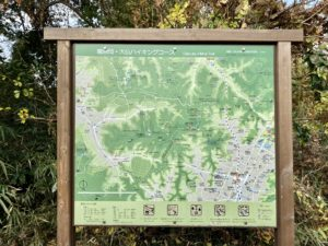 大仏ハイキングコースの案内板