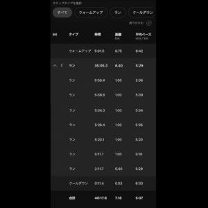 "【5'29""/kmで6.4km】"