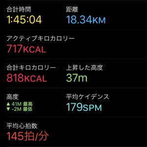"【5'44""/kmで18.34km】"