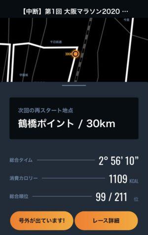 30km地点までの記録