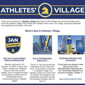ボストンマラソン1月のチャレンジ