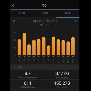 2012年の年間走行距離は3177km