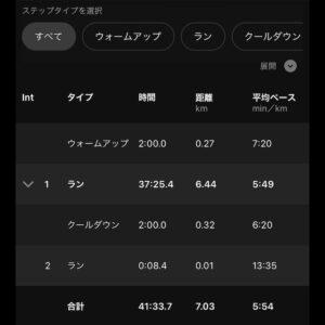 """7.03km(5'54"""")イージーラン【2021/1/19】"""