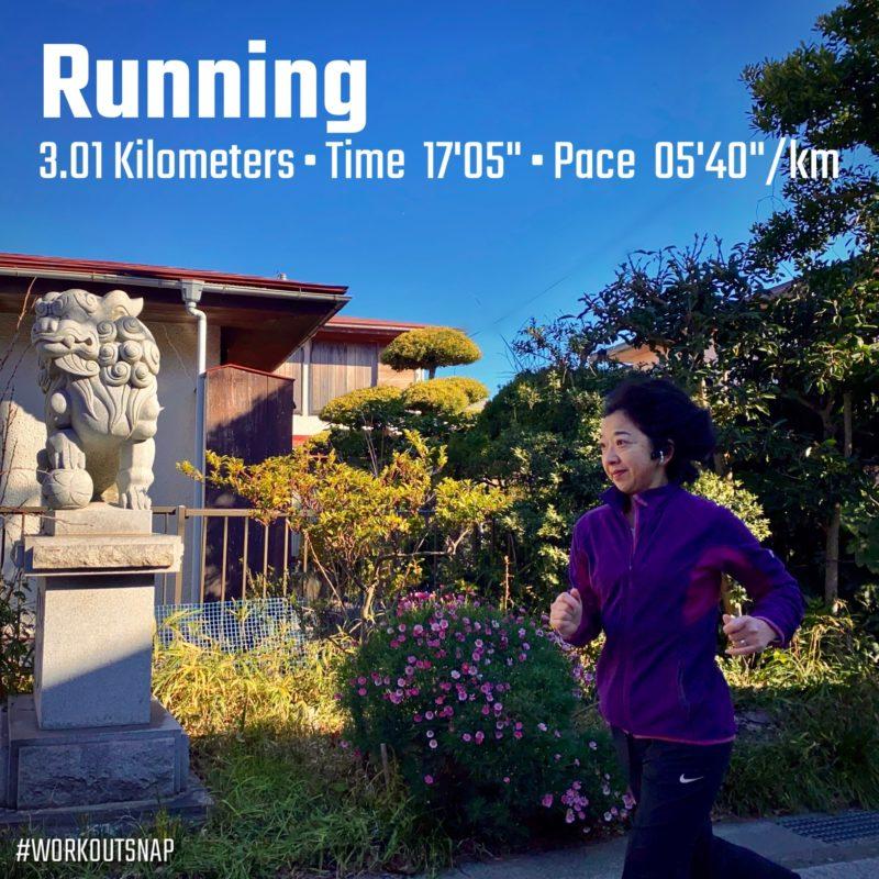 3.01kmジョグin五所神社