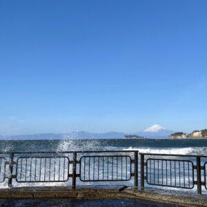逗子マリーナから見た富士山