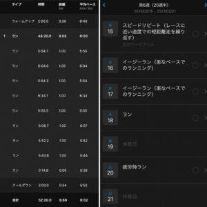"8.69km(6'02"") 疲労時ラン【2021/2/13】と来週のメニュー"