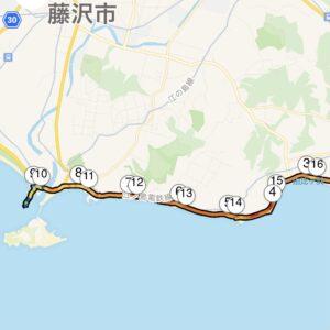 """16.75km(5'53"""") 江の島ランMAP"""