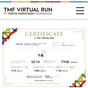 「RUN as ONE」総合ランキング770位