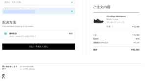 Cloudflyer Waterproof注文手続き4