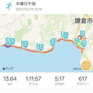"13.64km(5'17"") RUN as ONEレースをランキーパーで"