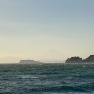 逗子マリーナから見る富士山