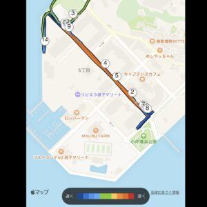 """6.26km(6'07"""") スピードリピート【2021/2/22】MAP"""