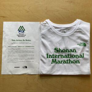 湘南国際マラソン参加賞のノースフェイスのTシャツ