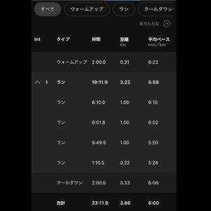 """3.86km(6'00"""") イージーラン【2021/3/23】"""