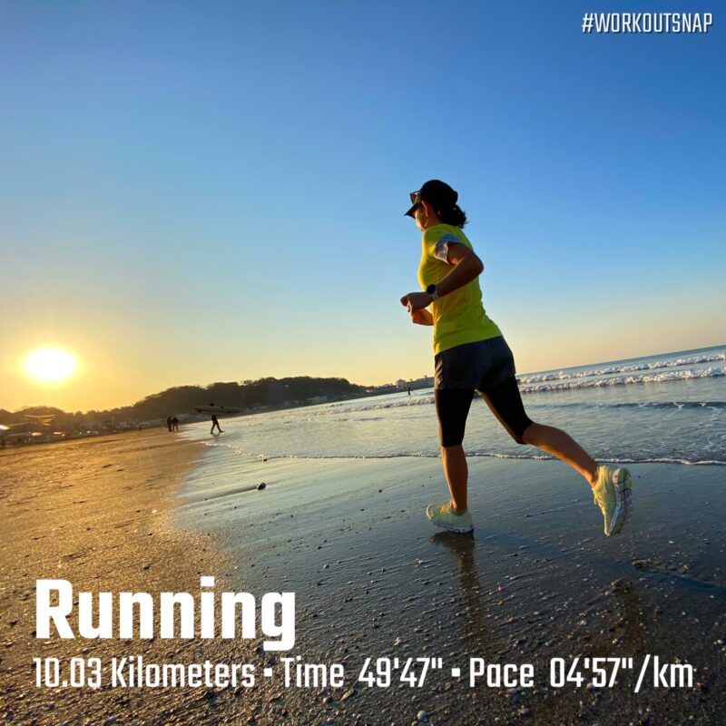 "10.03km(4'58"") ROAD TO TOKYO MARATHON 2021【2021/3/6】in材木座海岸"