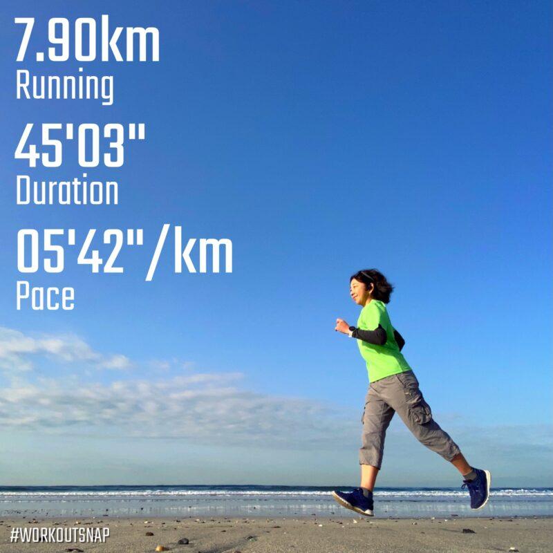 "7.9km(5'42"") イージーラン【2021/3/11】in材木座海岸"