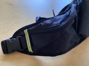 ランゼストのランニング2wayバッグの仕切り付きメインポケット