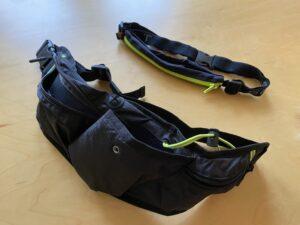 ランゼストのランニング2wayバッグと「スパイベルト」の大きさ比較