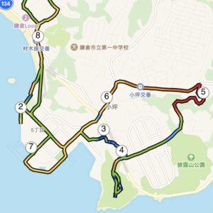 "8.67km(6'20"") 疲労時ラン【2021/3/13】in大崎公園MAP"