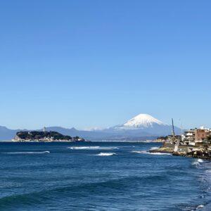 稲村ヶ崎から見た富士山