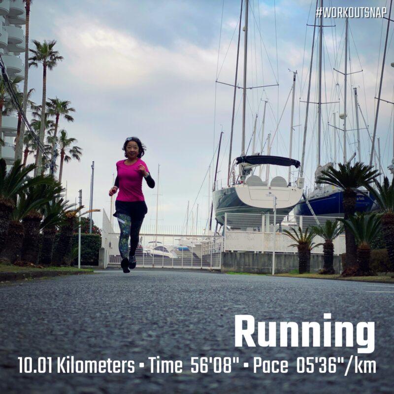 "10.01km(5'36"") スピードリピート【2021/3/9】in逗子マリーナ"