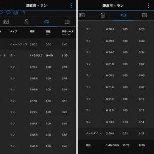 """16.7km(6'35"""") お花見ラン【2021/3/25】"""