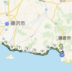 "18.41km(5'26"") 鵠沼ラン【2021/3/4】MAP"