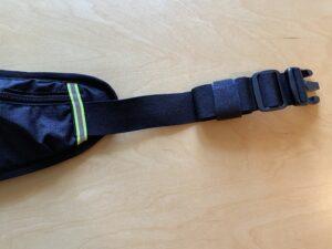 ランゼストのランニング2wayバッグのベルト余りをマジックテープで収納