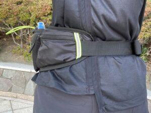 ランゼストのランニング2wayバッグは45°くらい移動