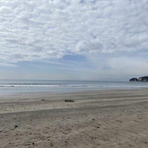 材木座海岸の雲