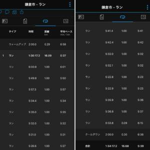 """16.68km(5'39"""") 江の島ラン【2021/3/12】"""