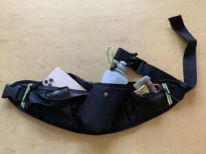 ランゼストのランニング2wayバッグにグッズ収納