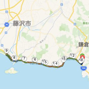 """16.68km(5'39"""") 江の島ラン"""