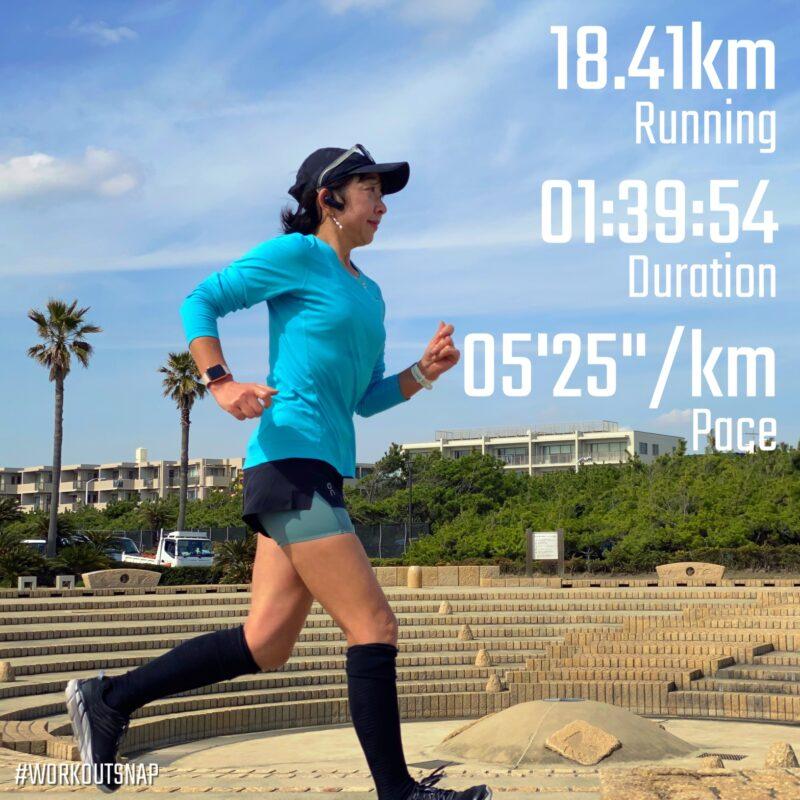 "18.41km(5'26"") 鵠沼ラン【2021/3/4】in鵠沼サーフビレッジ"