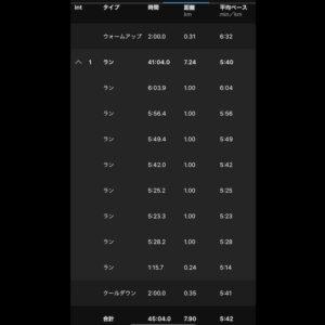 """7.9km(5'42"""") イージーラン【2021/3/11】"""