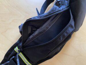 ランゼストのランニング2wayバッグはメッシュの仕切りポケット付き