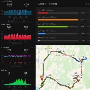 """10.77km(5'42"""") スピードリピート【2021/3/29】MAP"""