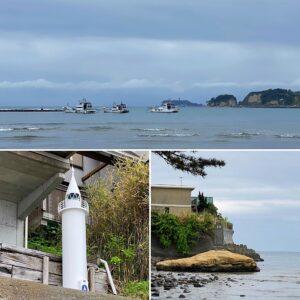 和賀江島の波打ち際