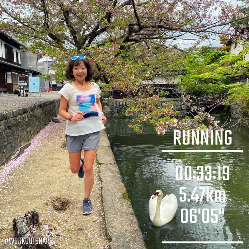 "5.47km(6'05"") イージーラン【2021/4/6】in倉敷"