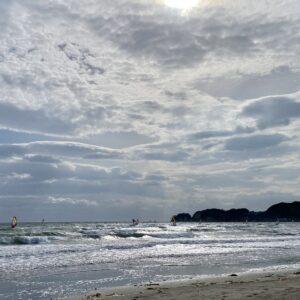 材木座海岸のウィンドサーフィン3
