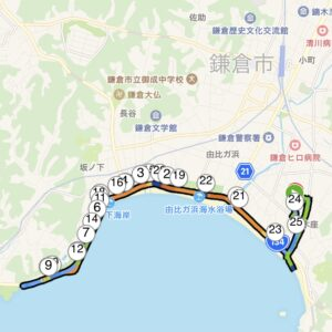 """13.33km(6'10"""") スピードリピート【2021/4/19】MAP"""