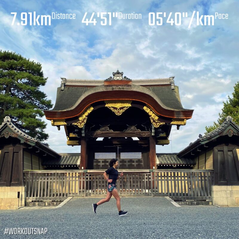 """7.91km(5'40"""") イージーラン【2021/4/7】in京都御所"""