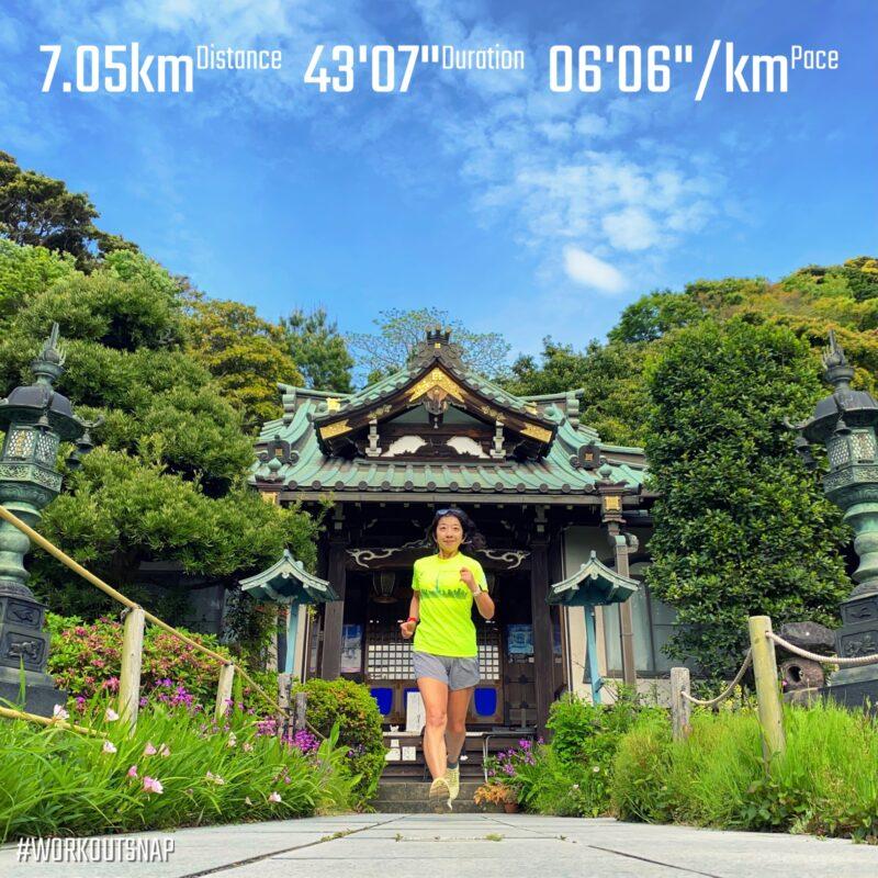 "7.05km(6'07"") 東京マラソン落選イージーラン【2021/4/28】inぼたもち寺"